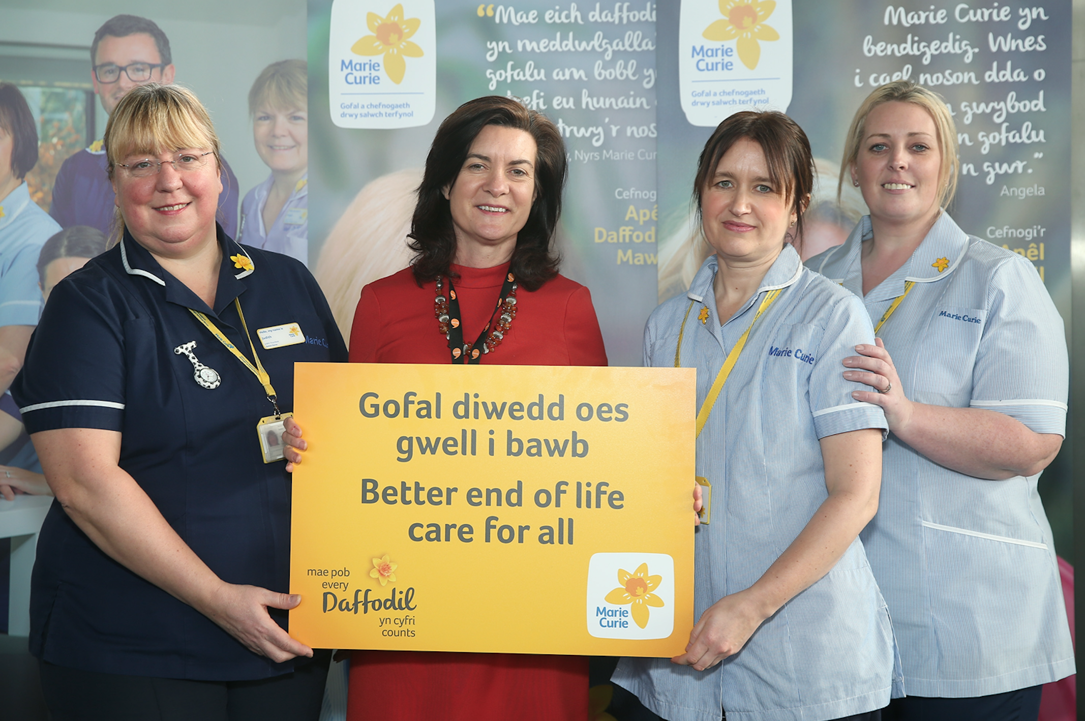 """Eluned pledges to """"Make Every Daffodil Count"""" for Marie Curie this February"""